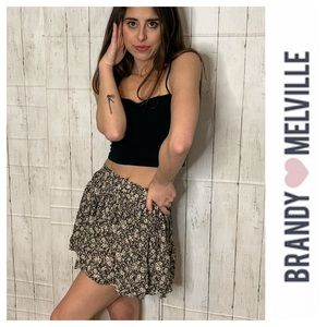 Brandy Melville Stretch Flower Skirt XS/S